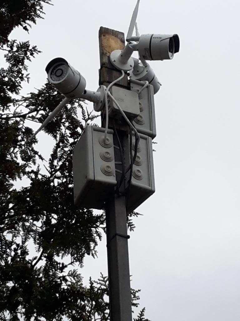 Videoüberwachung Montagebeispiel