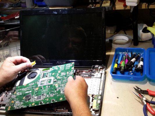 Reparatur eines Mainboards